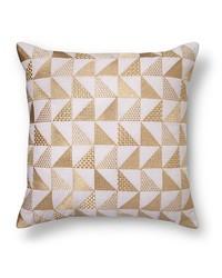 Xhilaration Metallic Triangle Throw Pillow - Gold