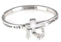 """7"""" Stretch Bracelet - Matthew 4:19 """"Come Follow Me"""""""