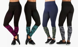 Form + Focus Women's Geo Printed Fade Seamless Leggings - Blk/mint - M/L