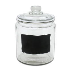 Anchor Hocking 1/2 Gallon Heritage Jar & Lid with Chalk Slate