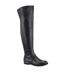 Carmen Marc Valvo Women's Drina Tumble Calf - Black - Size: L