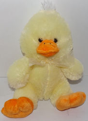 "Animal Adventure 12"" Sweet Sprouts Duck Chicks Plush Toy - Yellow/Orange"