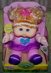 Cabbage Patch Kids Sittin' Daphne Priscilla Sept 10 Blonde Pigtails Doll