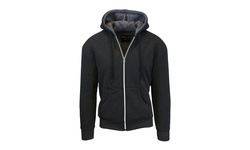 Galaxy By Harvic Men's Sherpa Lined Hoodie - Charcoal & Charcoal - Sz: XL