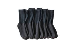 Hanes Men's Premium Extended Size Crew Socks - Black-Size: 5-9 Pack of 3