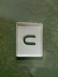 Threshold Monogram Ceramic Trinket Dish - U Letter