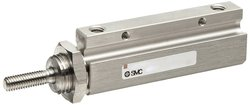 "SMC Pin Air Cylinder with Basic Style Mounting - 3/8"" Bore"