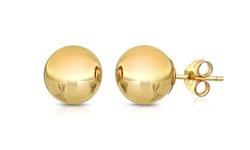 Sevil Solid 14K Gold Ball Studs Earrings
