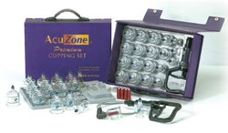 K S Choi Premium Quality Cupping Set with 19 Cups 10 Acu Pressure Pointers