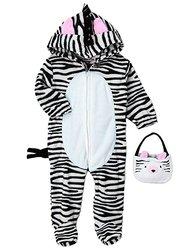 "Little Cutie Baby Girl's ""Little Zebra"" Coverall - Black/White - Size: 12M"