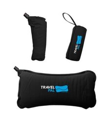 Travel Pal Self Inflating Adjustable Pillow Back Rest Support - Black