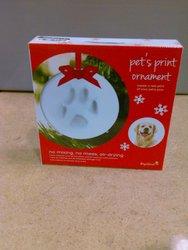 Holiday DIY Paw Print Ornament