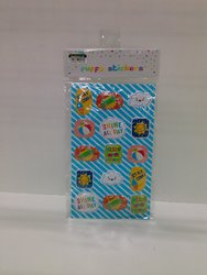 Holographic Joy Sticker Collection for Children - Puffy Blue