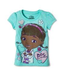 Doc Mcstuffins Toddler Tee - Cool Mint - Size 3T