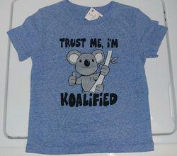 Boy's Trust Me Im Koalified Tee - Royal Blue - Size: 4T