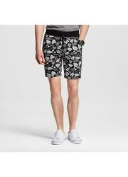 Mossimo Supply Men's Knit Shorts Leaf Print - Green - Size: L