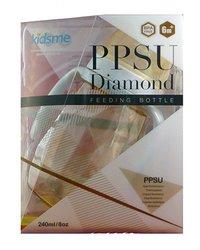 Kidsme Baby 8 Oz. PPSU Diamond Feeding Bottle - Gray/White