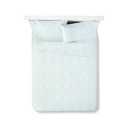 Sabrina Soto Confetti Sheet Set- Turquoise/White - Size: Queen