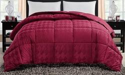 Victoria Classics 300 Thread-count Jacquard Diamond Comforter - Sz: Q- Red