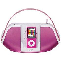 iLive IB109P Portable iPod Dock/Radio Boombox Pink