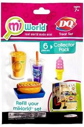 Mi World Collector Pack - DQ Treat Set - 1 Orange Julius Smoothie, 1 Artic Rush, 1 DQ Cone, 1 Hot Dog, 1 Bun and 1 Tray