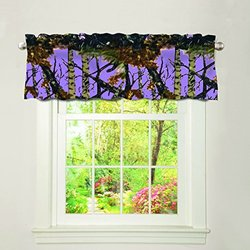 The Woods Camo Curtain Valance Lavender