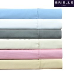 Brielle Premium 510-Thread Count Rayon from Bamboo Sateen Sheets Ivory