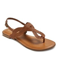 Merona Women's Thong Sandals - Cognac - Size: 7.5
