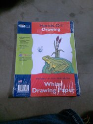 """Hands On Drawing 9x12"""" White Drawing Paper - 100 Sheets"""