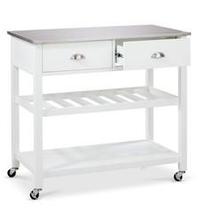 Threshold Quality Design Top Kitchen Island - White