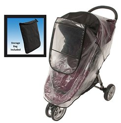 Comfy Baby Universal Deluxe Stroller Weather Shield - Black