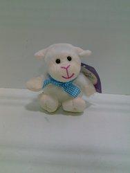 """Animal Adventure 14"""" Sweet Sprouts Monkey Plush Toy - White / Cream"""