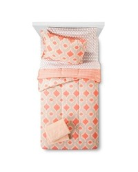 Room Essentials Reversible Comforter Set w/ Bath Towels - Coral - Twin XL