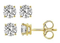 Brilliant Essence 1/4 CTTW Diamond Stud Earrings in 14K Gold