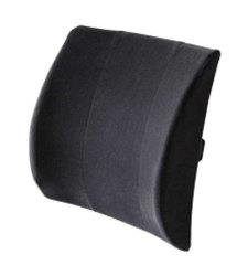 "Body Sport Lumbar Back Support Cushion - Black - Size: 13"" X 14"""