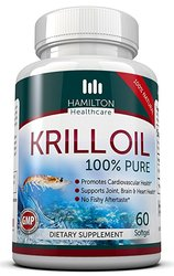 Hamilton Pure Krill Oil Cold Vacuum Extracted Supplements - 60 Softgel