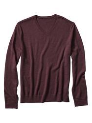 For the Republic V-Neck Merino Pullover - Dark Mulberry - Medium