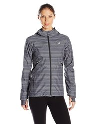 ASICS Women's Storm Shelter Jacket - Iron Gate Gray - Size: Medium