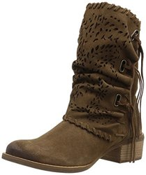 Naughty Monkey Women's Vamp Phyer Ankle Bootie, Tan, 7.5 M US