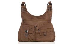 Afonie Washable Shoulder/Bowling Handbags - Beige