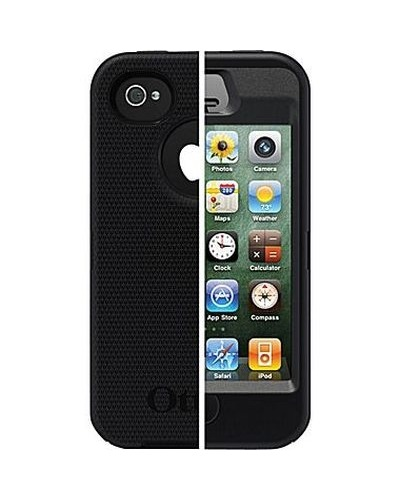 separation shoes b7de1 35708 OtterBox Defender Black Case Cover with Belt Clip Holster for iPhone 4 4S -  Check Back Soon