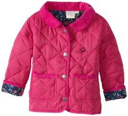 JoJo Maman Bebe Baby Girls' Quilted Jacket, Raspberry, 12 18 Months