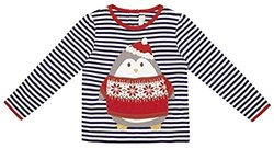 JoJo Maman Bebe Penguin Top (Baby) - Navy/Cream Stripe-18-24 Months