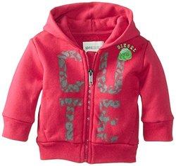 "Diesel Sufob ""Cute"" Zip Hoodie (Baby) - Fuchsia-18 Months"