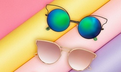 Plastic Retro Square Sunglasses