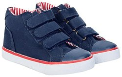 JoJo Maman Bebe Boys' Canvas Hightops (Toddler) - Navy - 6 Toddler