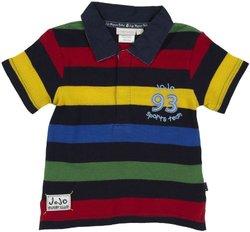 JoJo Maman Bebe Rugby Shirt (Toddler/Kid)-Multicolor-2-3 Years