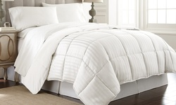 Damask Reversible Down Alt Comforter: Sage/full-queen