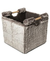 Threshold Storage Bin - Silver Fur - Set of 2