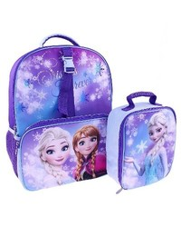 "Disney 16"" Frozen Kids Backpack with Lunch Kit - Blue"